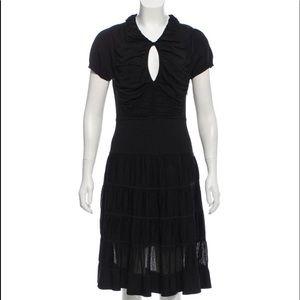 SOLD🎀 Zac Posen Knee-Length Cap Sleeved BLK Dress